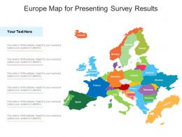 Europe Map For Presenting Survey Results