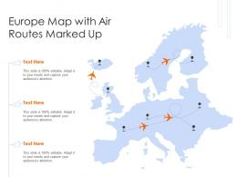 Europe Map With Air Routes Marked Up