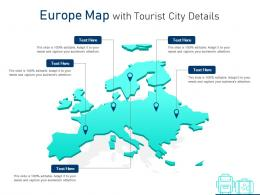 Europe Map With Tourist City Details