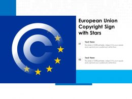 European Union Copyright Sign With Stars