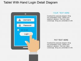 ev Tablet With Hand Login Detail Diagram Flat Powerpoint Design