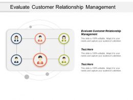 Evaluate Customer Relationship Management Ppt Powerpoint Presentation Model Background Cpb
