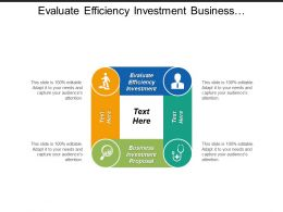 Evaluate Efficiency Investment Business Investment Proposal Lean Excellence Cpb