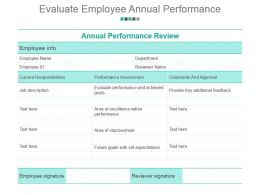 Evaluate Employee Annual Performance Powerpoint Slide Download