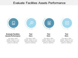 Evaluate Facilities Assets Performance Ppt Powerpoint Presentation Outline Cpb