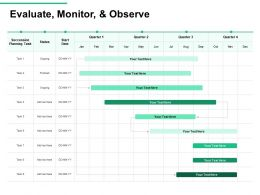 Evaluate Monitor And Observe Task Status Ppt Powerpoint Presentation Icon Information