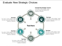 Evaluate New Strategic Choices Ppt Powerpoint Presentation Infographic Template Clipart Cpb