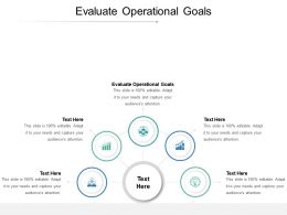 Evaluate Operational Goals Ppt Powerpoint Presentation Pictures Visuals Cpb