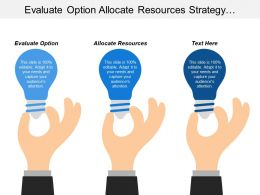 Evaluate Option Allocate Resources Strategy Implementation Standardized Processes Cpb