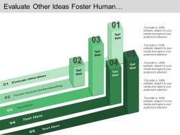 Evaluate Other Ideas Foster Human Understanding Get Tested