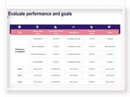 Evaluate Performance And Goals Ppt Powerpoint Example Topics