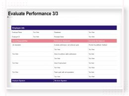 Evaluate Performance Area Of Improvement Ppt Powerpoint Template Rules
