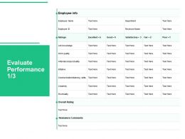 Evaluate Performance Knowledge Ppt Powerpoint Presentation Styles Smartart