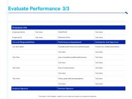 Evaluate Performance Perform Quarterly Ppt Powerpoint Presentation Gallery
