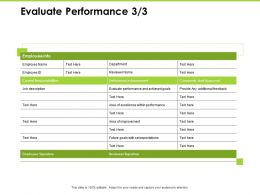 Evaluate Performance Performance Ppt Powerpoint Presentation Influencers