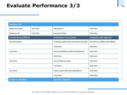 Evaluate Performance Ppt Powerpoint Presentation Summary Infographic Template