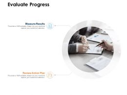 Evaluate Progress Action Plan Ppt Powerpoint Presentation Infographics
