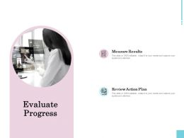 Evaluate Progress Measure Ppt Powerpoint Presentation Inspiration Rules
