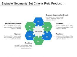 Evaluate Segments Set Criteria Reid Product Turnover Many Buyers