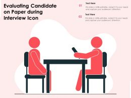 Evaluating Candidate On Paper During Interview Icon