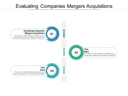 Evaluating Companies Mergers Acquisitions Ppt Powerpoint Presentation Ideas Cpb