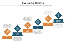 Evaluating Options Ppt Powerpoint Presentation Infographic Template Guidelines Cpb