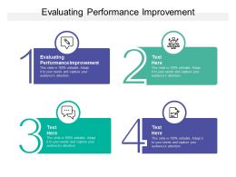 Evaluating Performance Improvement Ppt Powerpoint Presentation Styles Clipart Cpb