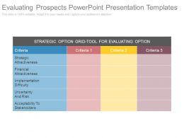 Evaluating Prospects Powerpoint Presentation Templates