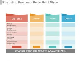 Evaluating Prospects Powerpoint Show
