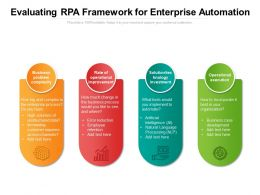Evaluating RPA Framework For Enterprise Automation
