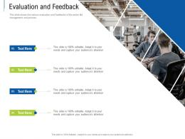 Evaluation And Feedback Tender Response Management Ppt Powerpoint Presentation Outline Deck