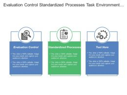 Evaluation Control Standardized Processes Task Environment Industry Analysis