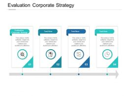 Evaluation Corporate Strategy Ppt Powerpoint Presentation Summary Cpb