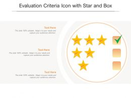 Evaluation Criteria Icon With Star And Box