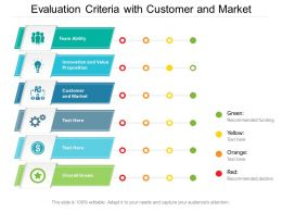 Evaluation Criteria With Customer And Market