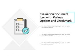 Evaluation Document Icon With Various Options And Checkmark