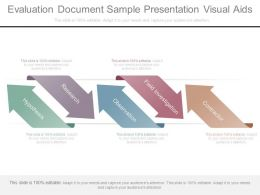 Evaluation Document Sample Presentation Visual Aids