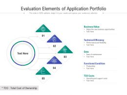Evaluation Elements Of Application Portfolio