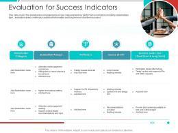 Evaluation For Success Indicators Project Engagement Management Process Ppt Graphics