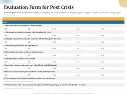 Evaluation Form For Post Crisis Were Valued Ppt Powerpoint Presentation Summary Visual Aids