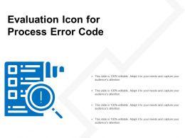 Evaluation Icon For Process Error Code