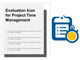 Evaluation Icon For Project Time Management