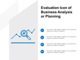 Evaluation Icon Of Business Analysis Or Planning