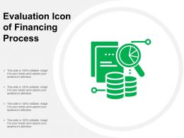 Evaluation Icon Of Financing Process