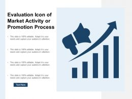 Evaluation Icon Of Market Activity Or Promotion Process
