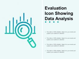 Evaluation Icon Showing Data Analysis