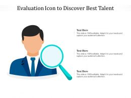 Evaluation Icon To Discover Best Talent