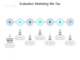 Evaluation Marketing Mix 7ps Ppt Powerpoint Presentation Styles Cpb