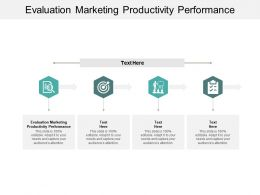Evaluation Marketing Productivity Performance Ppt Powerpoint Presentation Summary Cpb