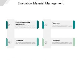 Evaluation Material Management Ppt Powerpoint Presentation File Example Topics Cpb